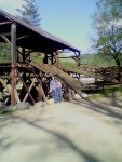 Mrs. Who Dah? and Who Dah? at a Sutter's Mill replica where the gold rush started! March 2003