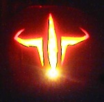 Man, the camera caught that candle *just* right! The quake logo came out GREAT! My best friend Bobby helped w/ it.. Thx dude!