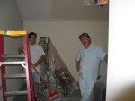 day 5: whodah on left, whodah senior (dad) on right. that ceiling is hosing us...