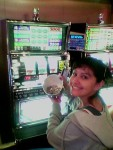 Here you see Priscilla turning $2 of nickles into $8.40 of nickles on a slot machine in less than 10 minutes.