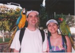 Priscilla didn't believe me that this parrot was trying to take off w/ my sunglasses...  Pictures don't lie!