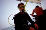 You can't tell, but I'm excited and ready to go scuba diving! The scuba diving was in Mozatlan.