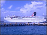 What do you know, our ship from our last cruise showed up! Carnival's 'Elation'!