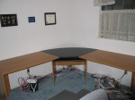 my new desk, all clean.. not for long! bwah ha ha!!