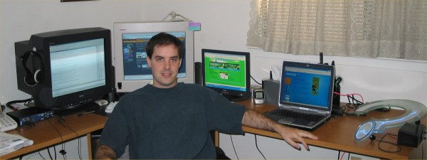 """newer shot w/ my typical layout. prolly gonna ditch the 15"""" lcd. 3 monitors is more cumbersome than it's worth..."""