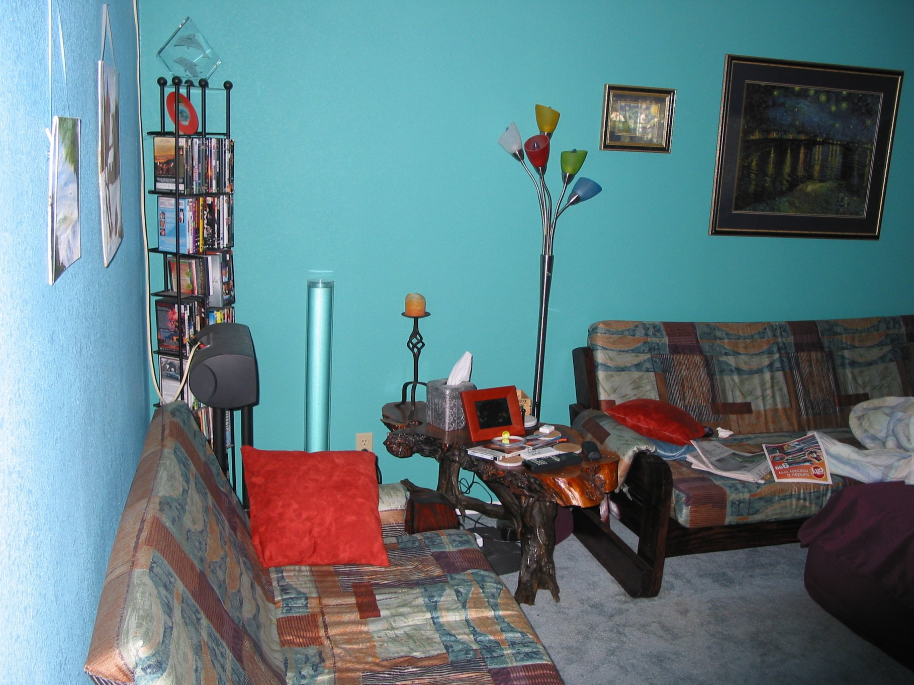Corner of living room b4.