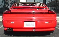 Car Bootay! 92' Dodge Stealth RT from the back. Ownt ~6/98-present.