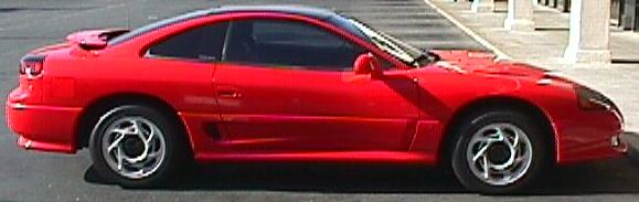 92' Dodge Stealth side shot. Isn't she purdy? Ownt ~6/98-present.
