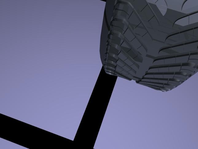 Tread shot of my 3d project using alias|wavefront on SGI machinest 7/1999.