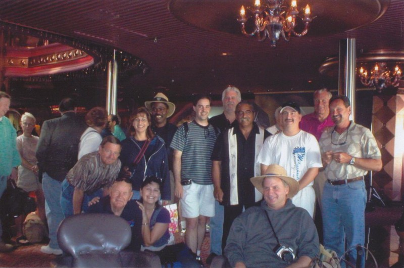 The group, right before we left the boat... Sad times!