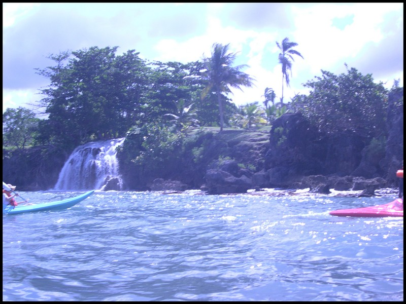 Waterfalls in Jamaica that we sea-kayaked to/under.