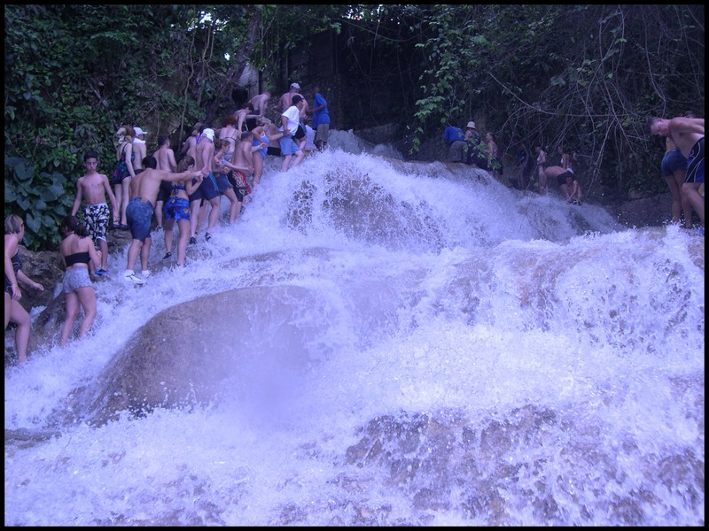 The falls in Jamaica that we hiked.